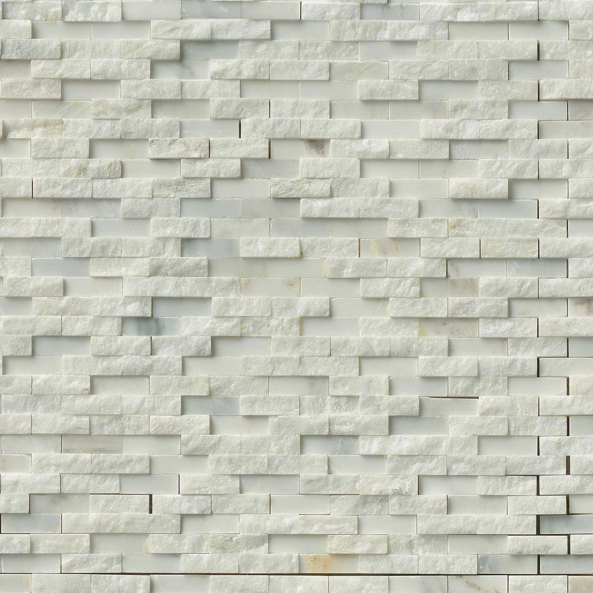 MS International Marble Mosaics Splitface Greecian White