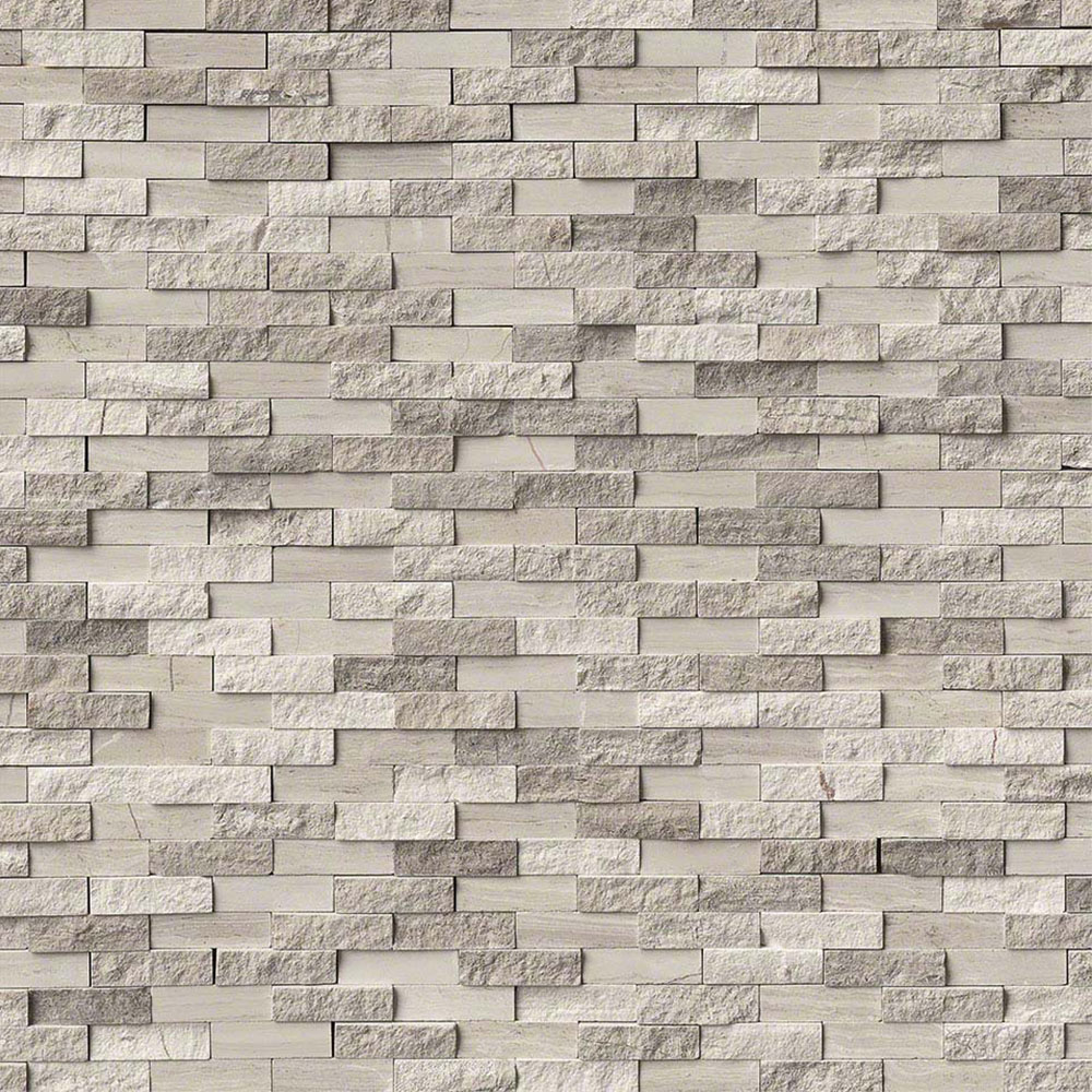 MS International Marble Mosaics Splitface White Oak