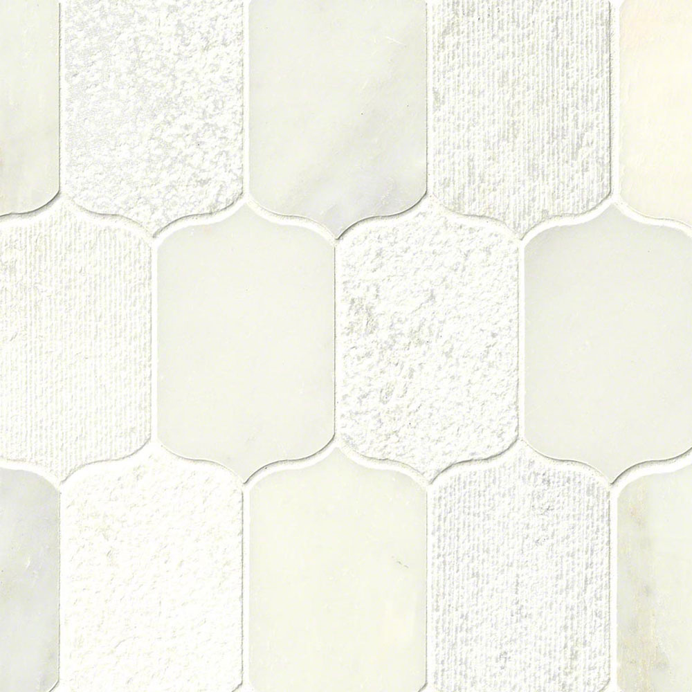 MS International Marble Mosaics Other Calypso Blanco Lotus Pattern