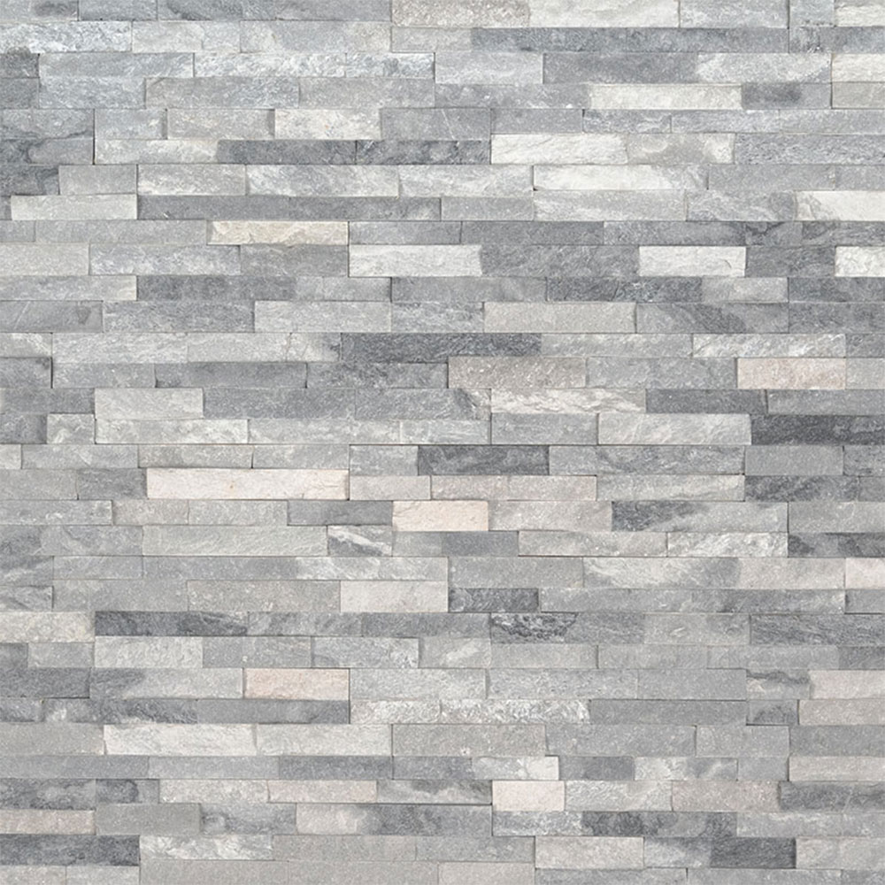 Exterior: MS International Mini Stacked Stone Panels Alaska Gray