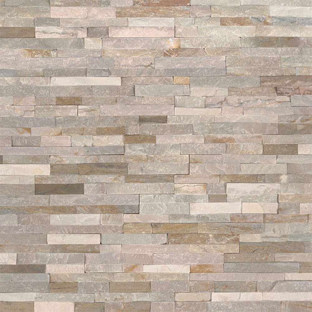 Exterior: MS International Mini Stacked Stone Panels Golden Honey