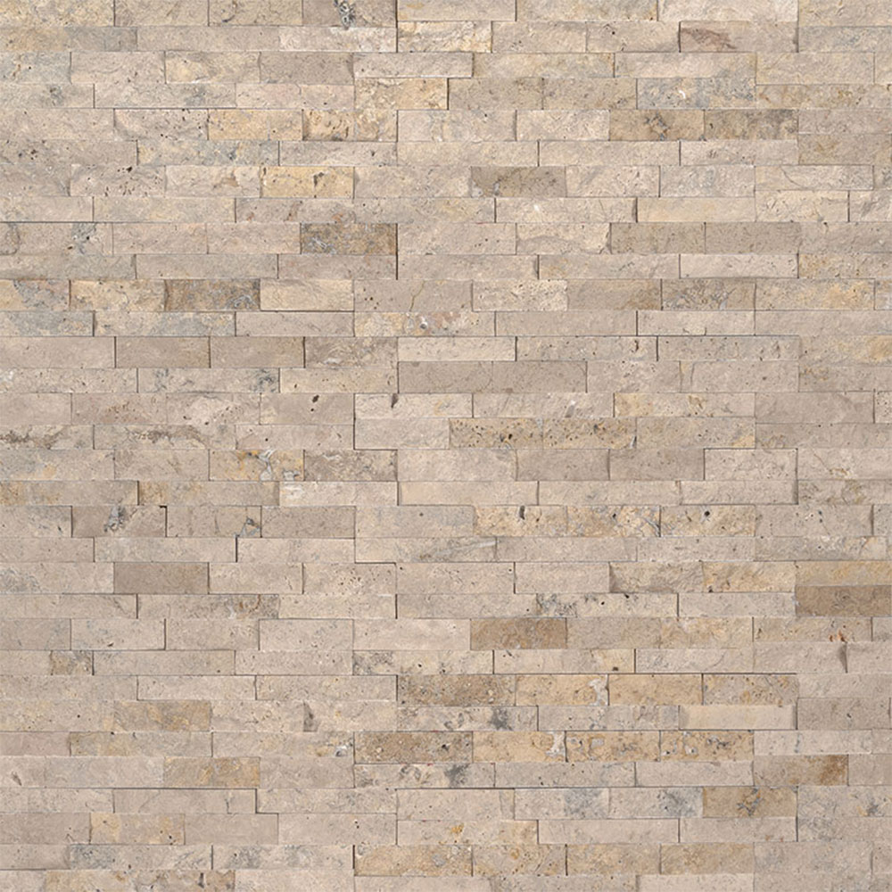 Exterior: MS International Mini Stacked Stone Panels Roman Beige