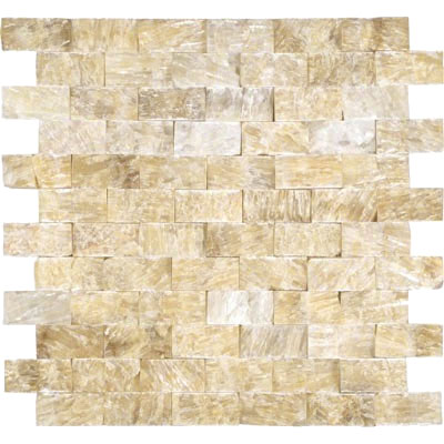 MS International Onyx Stone Mosaic Splitface 1 x 2 Soleil Onyx