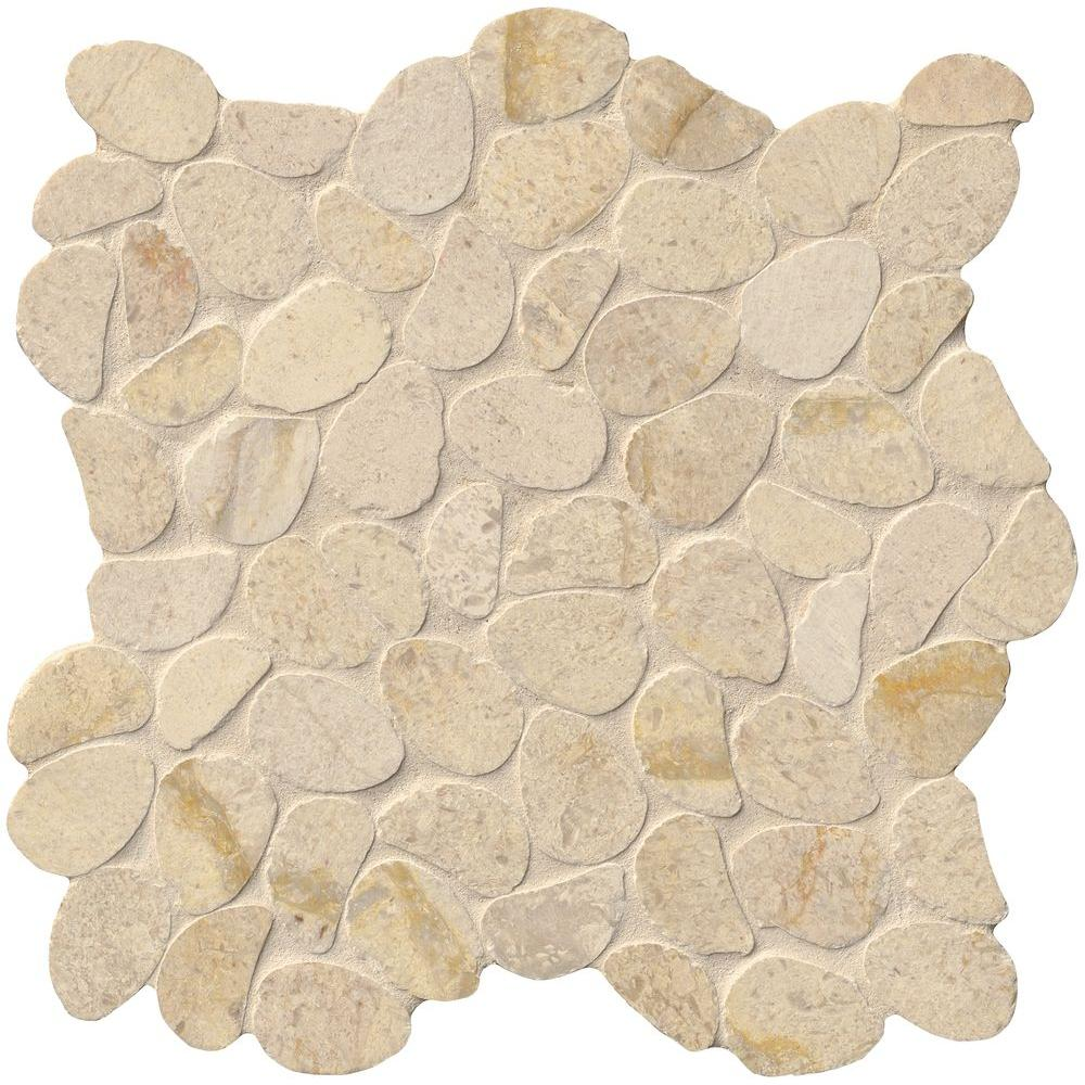 MS International Pebble Mosaics 12 X 12 Honed Coastal Sand