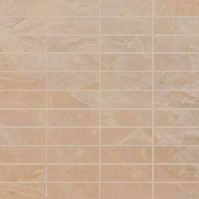 MS International Pietra Mosaic 1 x 3 Onyx