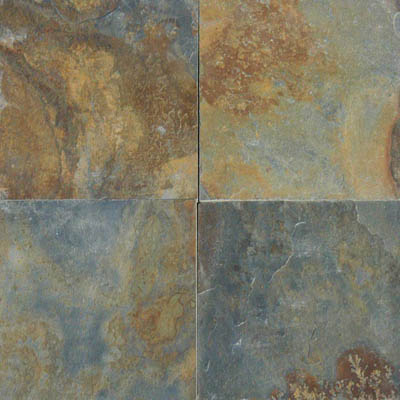 MS International Slate and Quartzite 16 x 16 Gauged China Multi Color