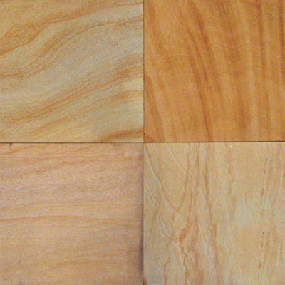 MS International Slate and Quartzite 16 x 16 Gauged Teak Wood