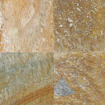 MS International Slate and Quartzite 16 x 24 Golden White