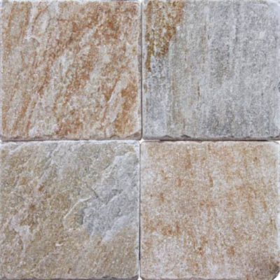 Ms International Slate And Quartzite 6 X 6 Golden White