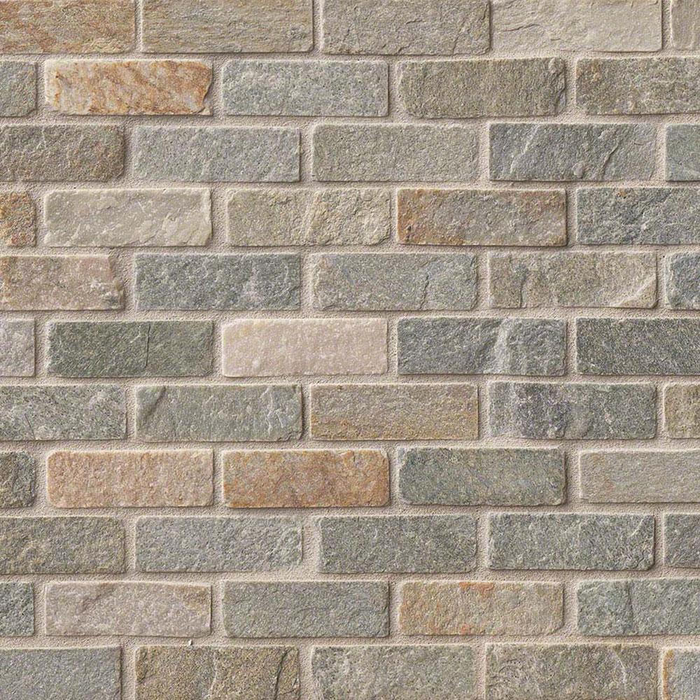 MS International Slate and Quartzite Mosaic Brick Gauged ...