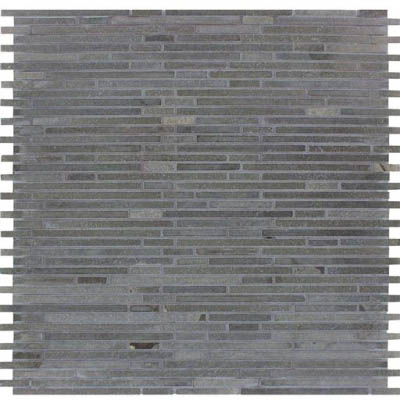MS International Slate and Quartzite Mosaics Basalt Blue Bamboo