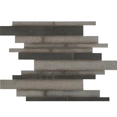 MS International Slate and Quartzite Mosaics Mystic Grey Interlocking