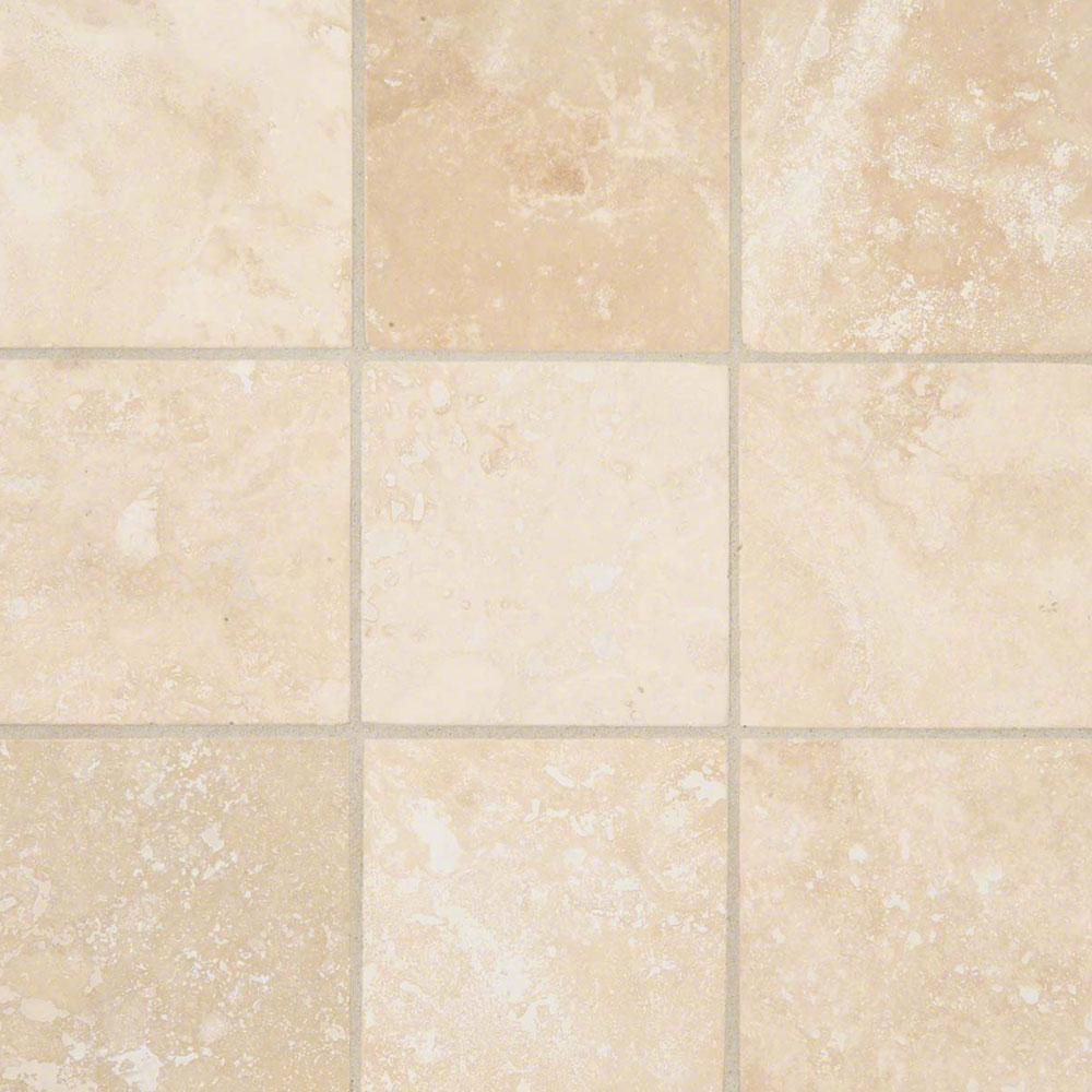 Ms International Travertine 4 X 4 Honed Filled Tile