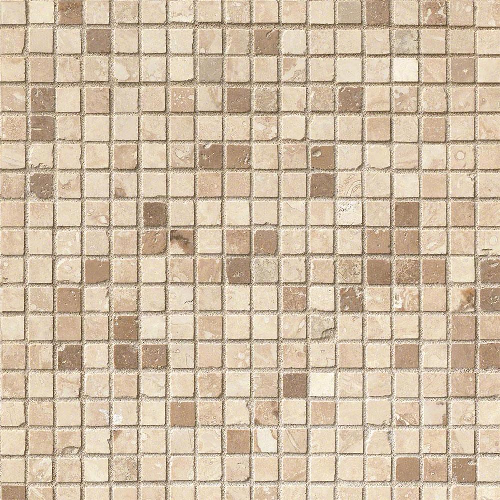 Chiaro Tile Backsplash: MS International Travertine Mosaic 5/8 X 5/8 Honed Noce