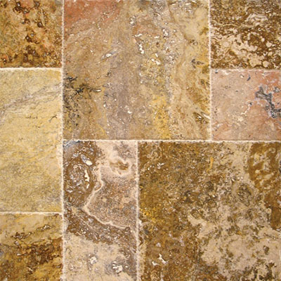 MS International Travertine Versailles Honed Unfilled Chiseled Tuscany Scabas