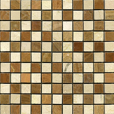 Maestro Mosaics Stone Mosaic Checkerboard Crema Timber