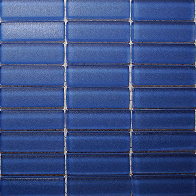 Maestro Mosaics Crystal Glass Frosted Mosaic Medium Blue M033