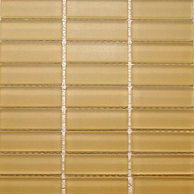 Maestro Mosaics Crystal Glass Frosted Mosaic Soft Gold M067