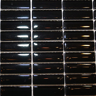 Maestro Mosaics Crystal Glass Mosaic Black A010