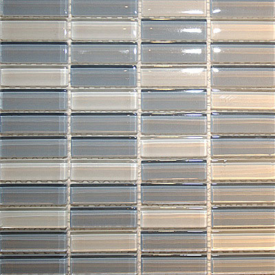 Maestro Mosaics Crystal Glass Blends Mosaic White-Blue Gray-Light Blue Gray A018/A132/A017