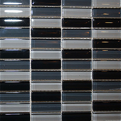 Maestro Mosaics Crystal Glass Blends Mosaic Light Gray-Black-Dark Gray A015/A011/A013