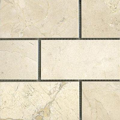 Maestro Mosaics Marble 3 x 6 Polished Crema Light