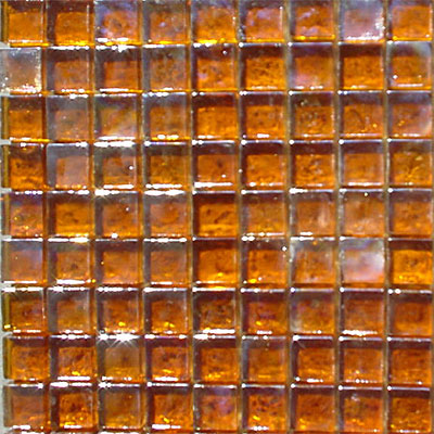 Maestro Mosaics Seaside Glass Mosaic Amber Dark
