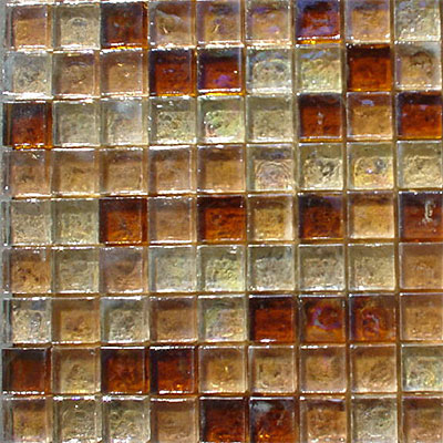 Maestro Mosaics Seaside Glass Mosaic Blends Amber Mix