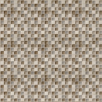 Mannington Accent Gallery Glass & Stone Blends 1 x 1 Mosaic Beige Blend A00MMM