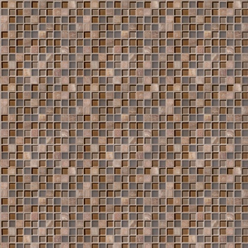 Mannington Accent Gallery Glass & Stone Blends 1 x 1 Mosaic Coral Blend A01MMM