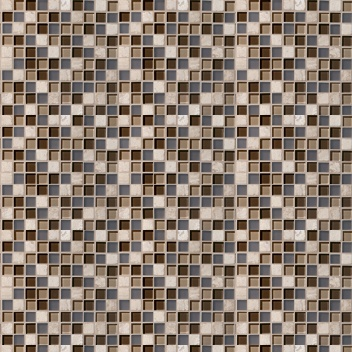 Mannington Accent Gallery Glass & Stone Blends 1 x 1 Mosaic Java Blend A02MMM