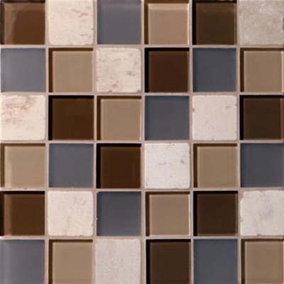 Mannington Accent Gallery Glass & Stone Blends 2 x 2 Mosaic Java Blend A05MMM