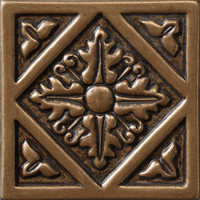 Marazzi Romance Collection Diamond Insert 4 x 4 Diamond Insert Bronze UJ63