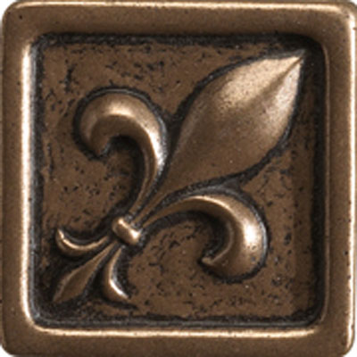 Marazzi Romance Collection Fleur de lis Insert 1 x 1 Bronze UJ9A