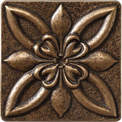 Marazzi Romance Collection Floral Corner 4 x 4 Bronze UJ6V