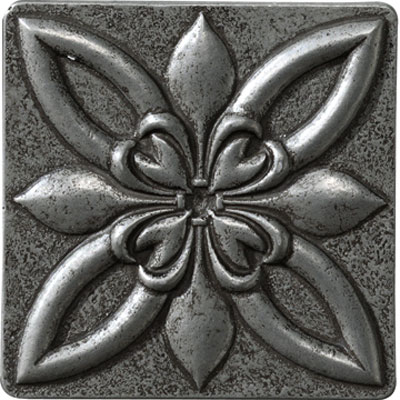 Marazzi Romance Collection Floral Corner 4 x 4 Floral 4x4 Insert Nickel UJ6U