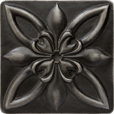 Marazzi Romance Collection Floral Corner 4 x 4 Wrought Iron UJ7Z