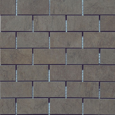 Marazzi Stone Collection Mosaic Brick 1 1/2 x 2 1/2 Anthracite Brick M54R