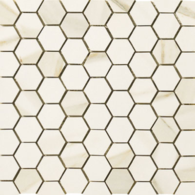 Marazzi Timeless Collection Mosaic (1 3/4 x 1 1/2 Hexagon) Calacatta Pearl UK2V