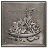 Marazzi i Metalli Di Marazzi Insert 12 x 12 Fruit Medley Wall Brushed Nickel UB39