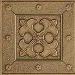Marazzi Metalli Border 4 x 12 (wrong images) Fleur De Lis Floor Antique Gold UB2V