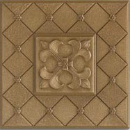 Marazzi Metalli Liner 2 x 6 (wrong images) Fleur De Lis Wall Antique Gold UB2Z