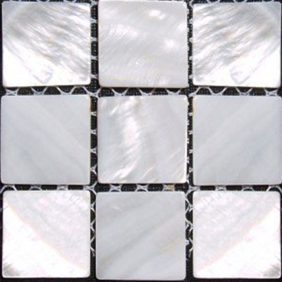 SeaTile SeaTile Mosaics 1 x 1 Freshwater Mother of Pearl Mosaic MMFP025