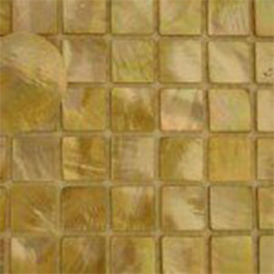 SeaTile SeaTile Mosaics 1 x 1 Golden Mother Of Pearl Mosaic MMGP025