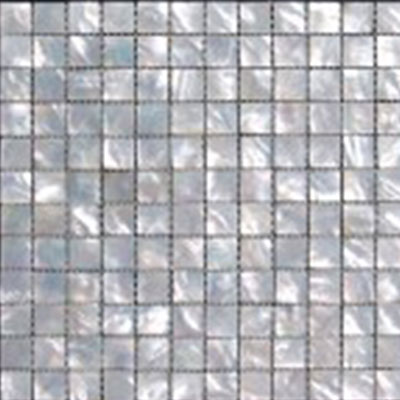 SeaTile SeaTile Mosaics 1 x 1 White Mother Of Pearl Mosaic MMWMP025