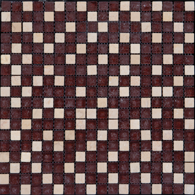 Megatrade Corp. Glass Mosaic Mix 12 x 12 Brown Ivory 3192