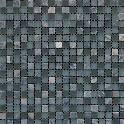 Megatrade Corp. Glass Mosaic Mix 12 x 12 Gray 3193