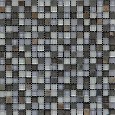Megatrade Corp. Glass Mosaic Mix 12 x 12 Green 3190