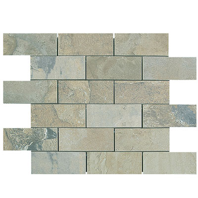 Megatrade Corp. Natural Slate Brick 12 x 12 Autumn 4486