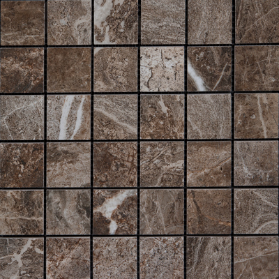 Megatrade Corp. Thrill Natural Finish Mosaico 13 x 13 Walnut 4751